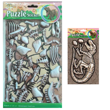 Childrens sticker dinosaur puzzle bone fossil variety