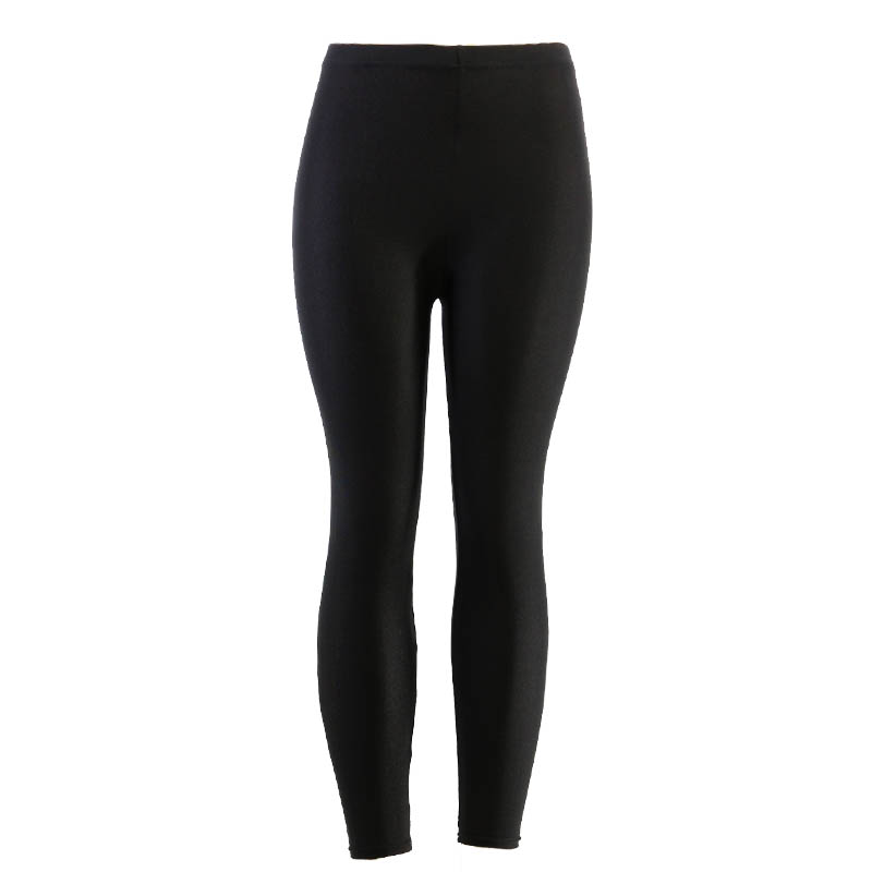 Black Solid Fluorescent   Leggings   Women Casual Plus Size Multicolor Shiny Glossy   Legging   Female Elastic Pant