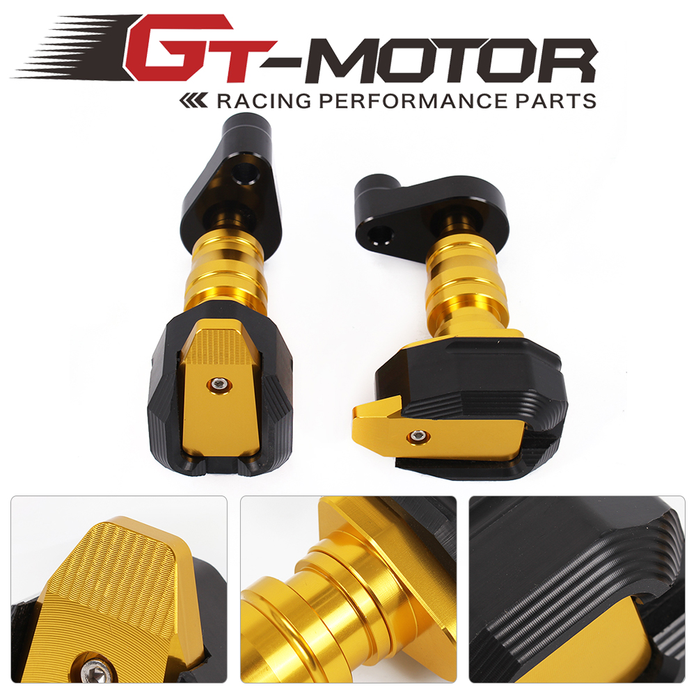 GT Motor- CNC Left and Right Motorcycle Frame Slider Anti Crash Protector For BMW S1000RR S1000XR F800R K1300R/1200R 1pcs bearing 6024 6024z 6024zz 6024 2z 120x180x28 shielded deep groove ball bearings single row p6 abec 3 high quality bearings