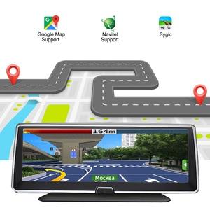 Image 3 - Bluavido 8 Inch 4G Android Car Dashboard DVR Camera GPS Navigation ADAS 1080P Dual Lens Car Video Recorder Night vision WiFi