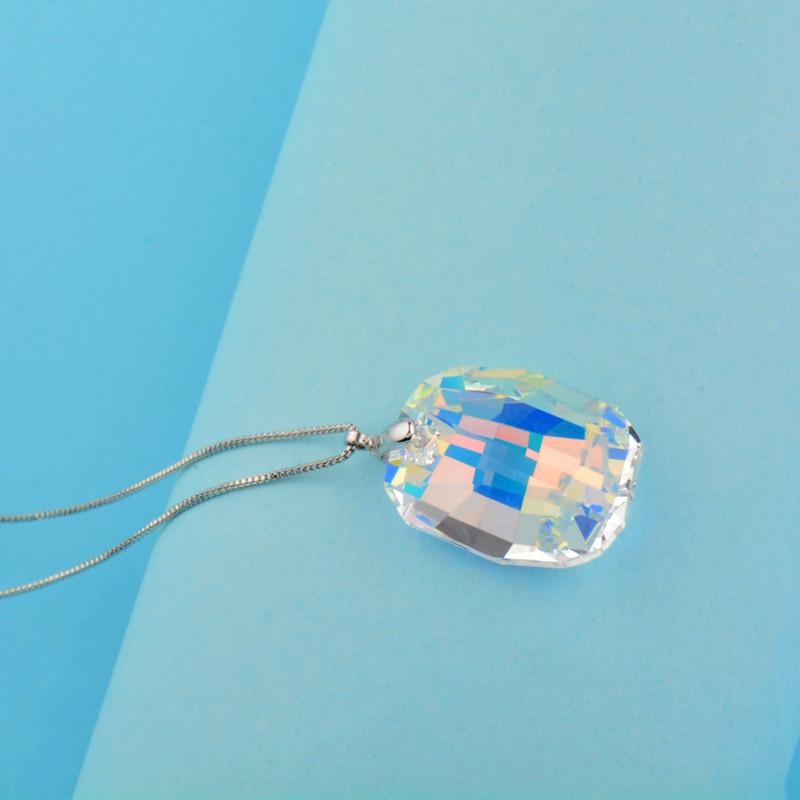 Image 3 - SINLEERY великолепный дизайн Большое Квадратное хрустальное ожерелье для женщин Роскошная Хрустальная подвеска цепочка змейка на заказ ювелирные изделия XL072 SSHОжерелья с подвеской   -