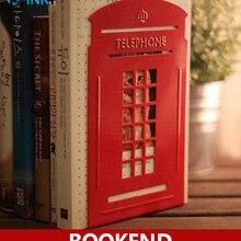 Cabinas creativas de Metal para teléfono, cabinas clásicas de novedad como soporte de libros para el hogar y la Oficina
