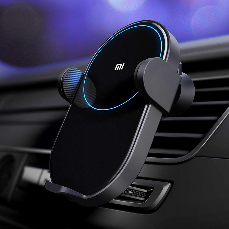 Xiaomi Mi Wireless Car Charger Mobile Phone Holder Electric Auto Pinch 2 5D Glass Ring Qi Quick Charge Max 20W Apply for Mi 9 in Chargers from Consumer Electronics