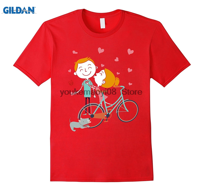 Gildan хлопка с О-образным вырезом Футболка Велосипедный Спорт любит