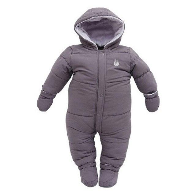 e7fbb6063be5 Newborn Baby Snowsuit Thick Winter Down Jumpsuit Infant Coats Boy ...