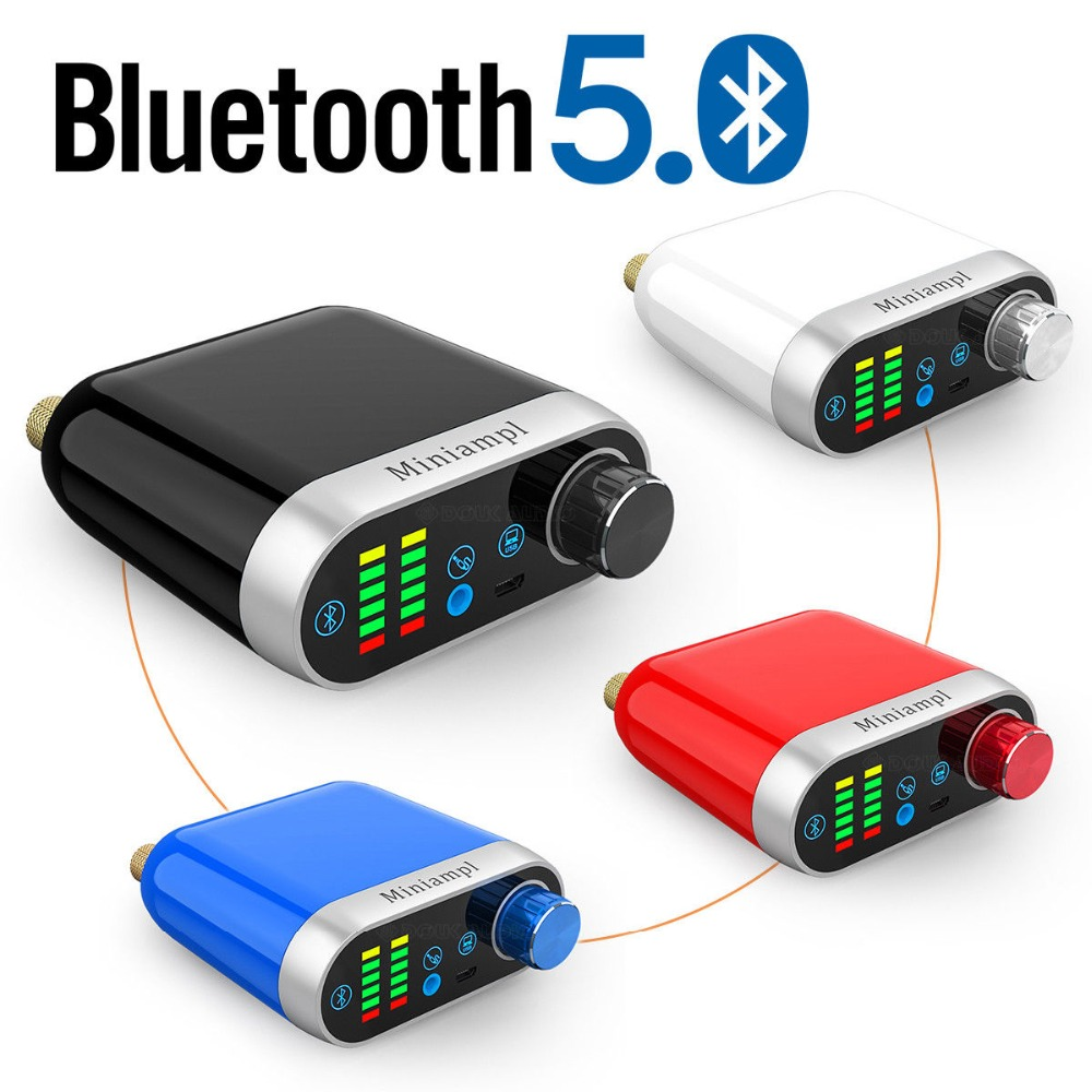 Nobsound HiFi Mini Bluetooth 5.0 HiFi Power Amplifier Class D Digital Amp USB Sound Card AUX 50W*2 For Mobile Pad MP3