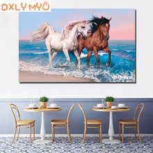 3d Diy diamond painting cross stitch horse 5d full square diamond embroidery kits animal picture mosaic painting home decor 3d diy diamond painting horse picture mosaic 5d cross stitch full square diamond embroidery kits animal painting home decor