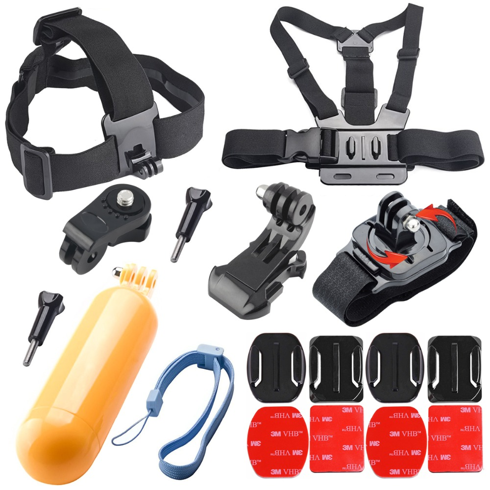 Chest Strap Floaty Bobber Monopod Head Belt Mount For Xiaomi yi for Sony Mini Cam Action Camera AS20 AS30V AS15V AS200V AS300