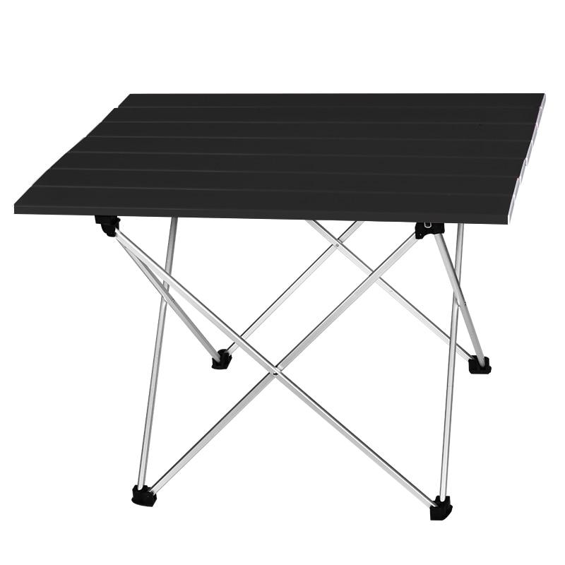 Camping แบบพกพากลางแจ้งอลูมิเนียมพับตาราง BBQ Camping ตารางปิกนิกพับตารางแสงลูกอมสีโต๊ะทำงาน S ขนาด L