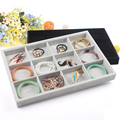 Free Shipping 35*24CM 12 Grids Jewelry Display Tray Ring Earring Case Bracelet Holder Necklace Display Jewelry Storage Box