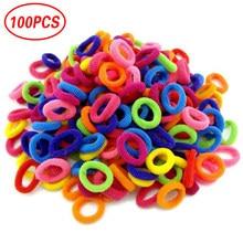 100 stücke Haar Ornamente Mix Farben Gummi Scrunchie Elastische Haar Bands/Krawatten/Seil Headwear Gum Haarband Stirnband Haar zubehör