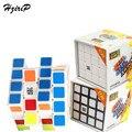 Venta caliente Magia 4x4x4 Cubo Mágico Colorido Cubo Velocidad Ultra-suave Etiqueta Toque de Puzzle de Aprendizaje Juguetes educativos del Envío Libre