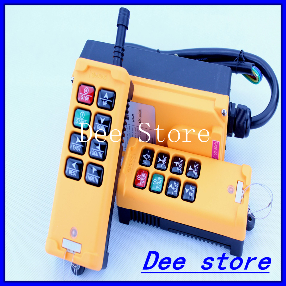 2 Transmitters 6 Channels One Speed Truck Hoist Crane Winch Radio Remote Control Push Button Switch System Controller 2 speed 2 transmitters 10 channels hoist crane industrial truck radio remote control push button switch system controller