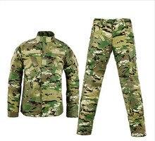 Militar do exército tactical carga calças de camuflagem impermeável militar tático de combate bdu uniforme exército roupas set