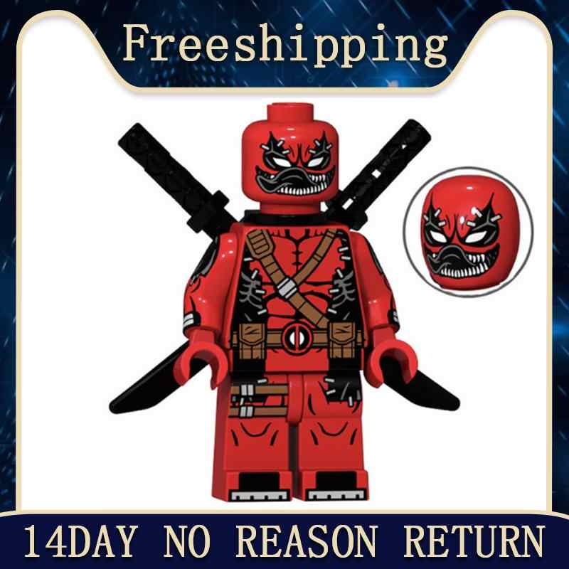 Bricks modelo Marvel Super Hero O Deadpool Action Figure Boneca Blocos de Construção Educacional Toy Kids Presentes XP072