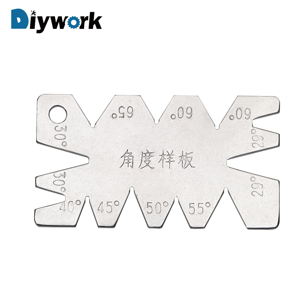 DIYWORK Machining Threads Screw Cutting Gauge Stainless Steel Angle Arc Model Angles Measure Tool