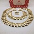 Mukun Jewelle Dubai e Banhado A Ouro Conjuntos de Jóias de Casamento Nigeriano Africano Contas de Cristal Conjunto De Jóias de Noiva Strass