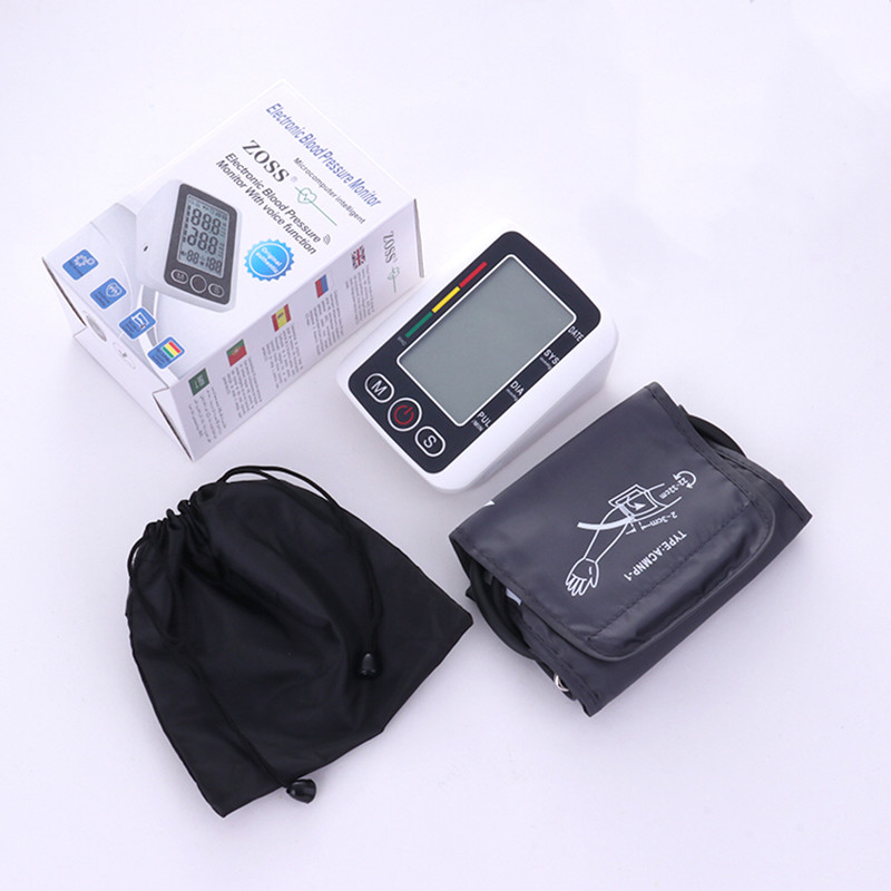 Home Health Care Russian Voice Digital Lcd Upper Arm Blood Pressure Monitor Heart Beat Meter Machine Tonometer Heart Rate Pulse automatic digital lcd display upper arm accurate blood pressure pulse monitor health care tonometer meter sphygmomanometer