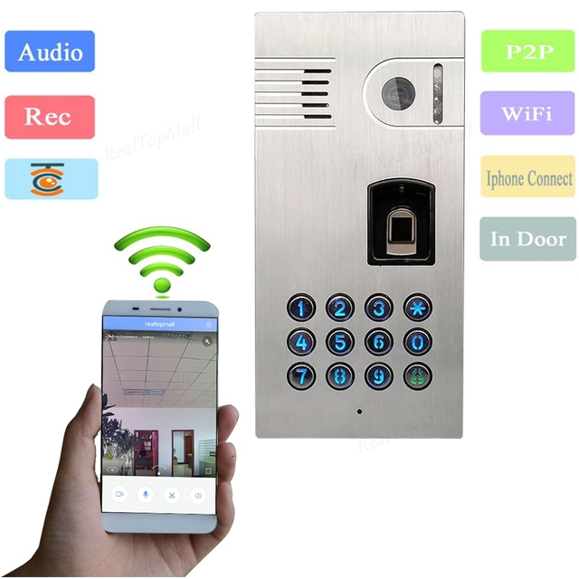 New IP Wifi Wireless Intercom System Global Video Door Phone Two Way  Intercom And Remotely Unlock