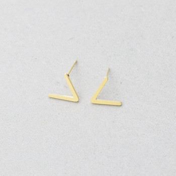 Rose Gold Chevron V Stud Earrings For Women Men Fashion Brincos Jewelry Minimalist Stainless Steel Small.jpg 350x350 - Rose Gold Chevron V Stud Earrings For Women Men Fashion Brincos Jewelry Minimalist Stainless Steel Small V Letter Earrings