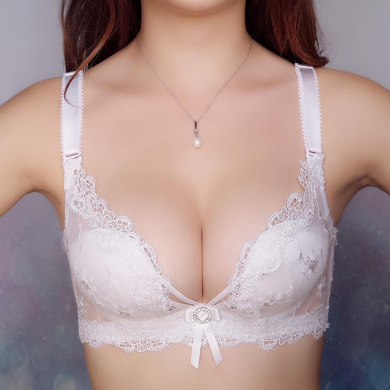 2017 New Lace Silk Empty Underwear Three Rows Push Up Sexy -6559