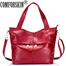 COMFORSKIN Luxury Handbags Women Bags Designer 2019 Guaranteed 100% Genuine Leather Large Capacity Totes Travelling