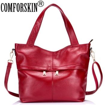 COMFORSKIN Luxury Handbags Women Bags Designer 2019 Guaranteed 100% Genuine Leather Large Capacity Women Totes Travelling Bags