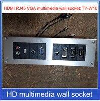 HD HDMI Socket VGA USB 2 0 RJ45 3 3 5 AUDIOwall Socket Aluminum Alloy