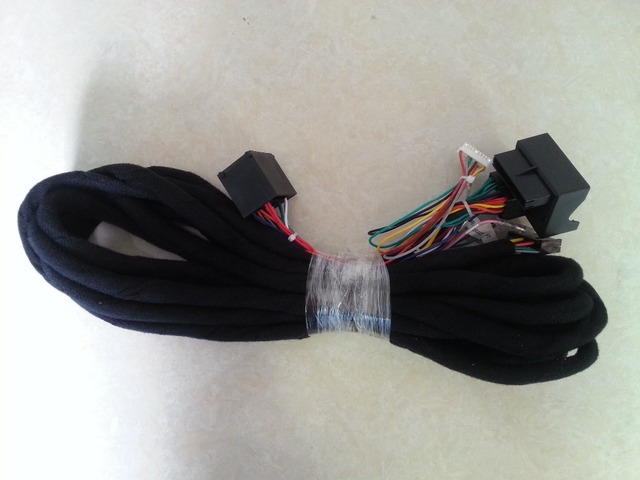 "Wiring Harness 6m Extension Power Cable A Model for our Android 7.1 7"" BMW E39/E53 X5/E46 DVD with Original Amplifier in Trunk"