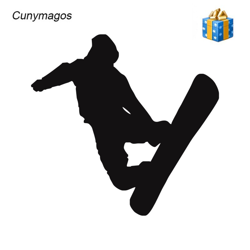 Cunymagos Figure Skating Ski Snowboarding Stickers Car Motorcycle Wall Window Toilet Decoration Decal Sticker Auto 12.8*12.4cm In Many Styles