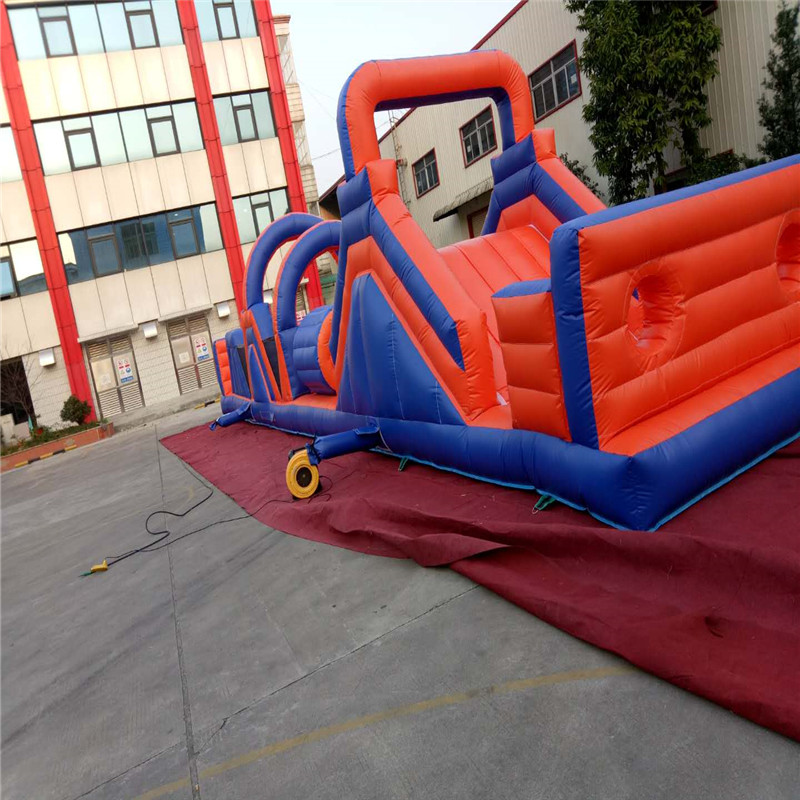 Kids And Adult Inflatable Bounce House Obstacle Course With Blowers funny summer inflatable water games inflatable bounce water slide with stairs and blowers