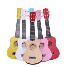 21 Cal dziecko dziecko dzieci kolorowe gitara Ukulele rymowanka rozwojowa muzyka zabawka dźwiękowa dzieci prezent zabawka Instrument muzyczny TC0005