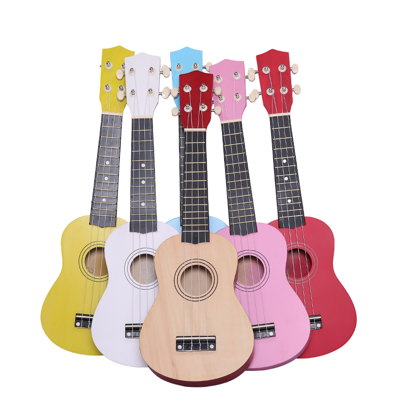 21 Inch Child Baby Kids Colorful Guitar Ukulele Rhyme Developmental Music Sound Toy Children  Gift Toy Musical Instrument TC0005