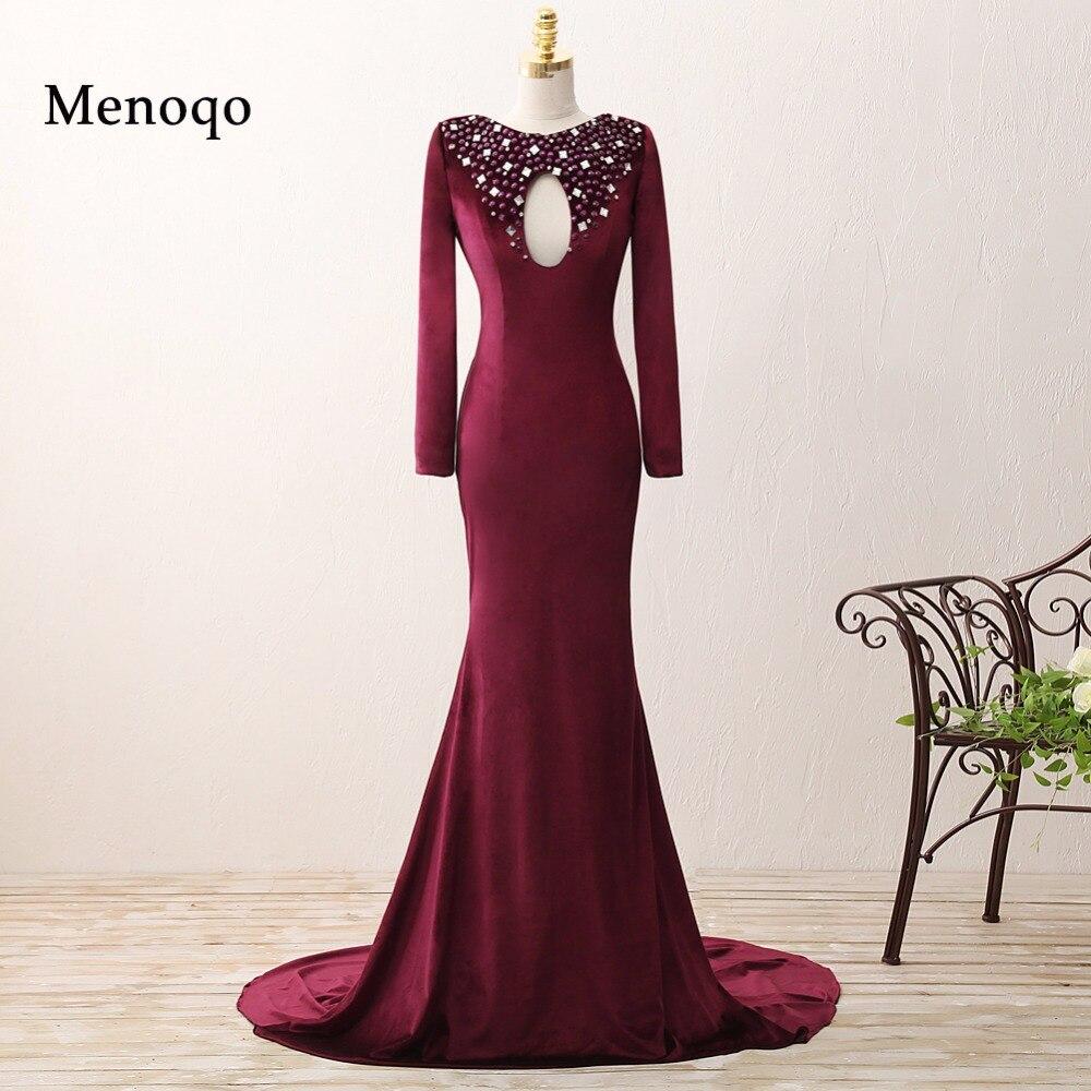Menoqo Real Photos Elegant Women Velvet Long Sleeve -3541