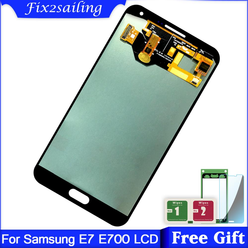 Super Amoled LCDS For Samsung Galaxy E7 E700 E700F E700M E700H LCD Display Touch Screen Assembly replacement parts phone LCDSuper Amoled LCDS For Samsung Galaxy E7 E700 E700F E700M E700H LCD Display Touch Screen Assembly replacement parts phone LCD