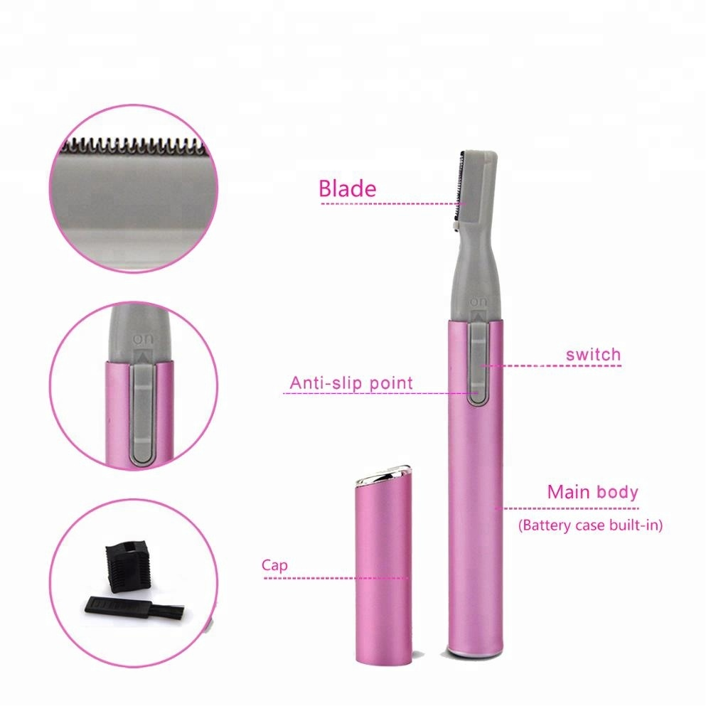 Professional Portable Mini Eyebrow Trimmer Body Shaver Electric Razor Hair Remover For Women Ladies