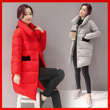 Winter jacket women medium long 2016 down cotton padded jacket women s slim fashion thickening wadded