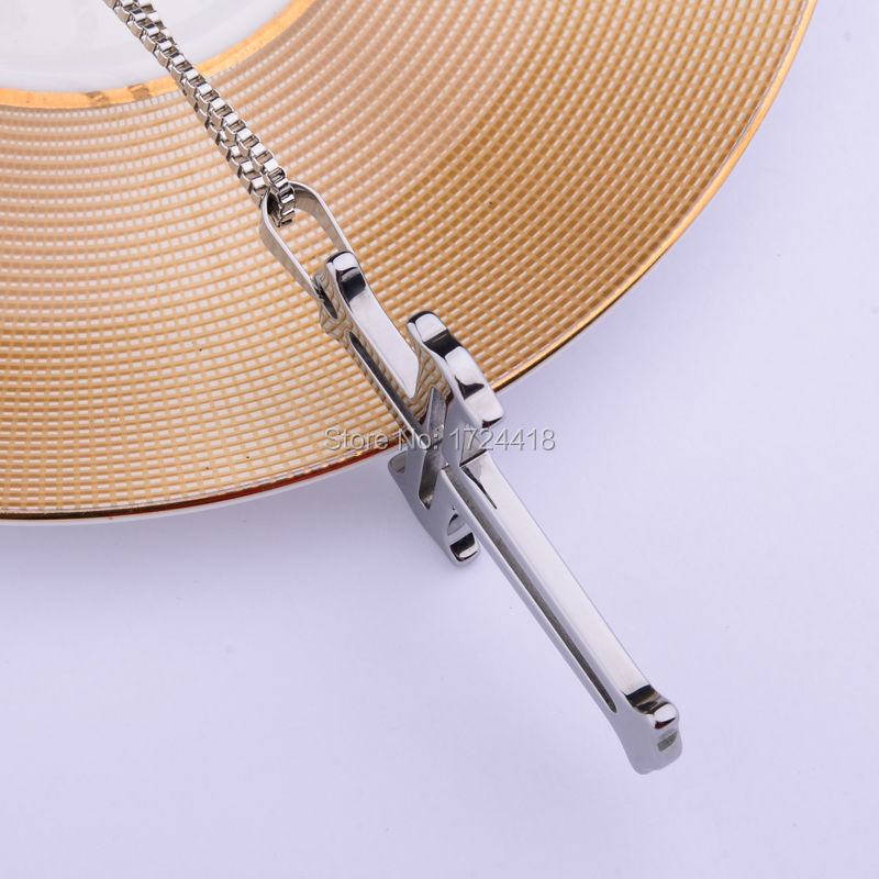 Popular gift unisex mens silver tungsten carbide cross pendant 800 113 1 aloadofball Image collections