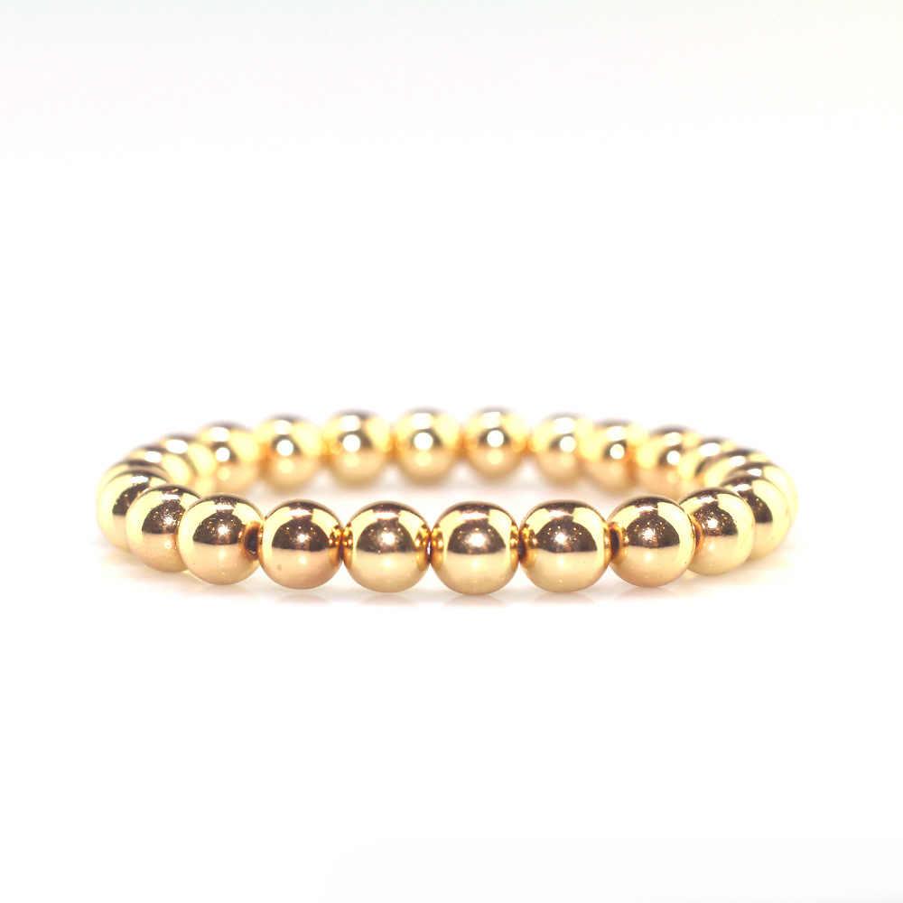 Новые золотые и с черным натуральным камнем бусины браслеты для мужчин модный серый счастливый камень браслет из бисера ручной работы здоровье браслет