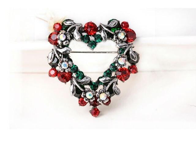 Модные рождественские подарки заколки и броши для женщин маленькие