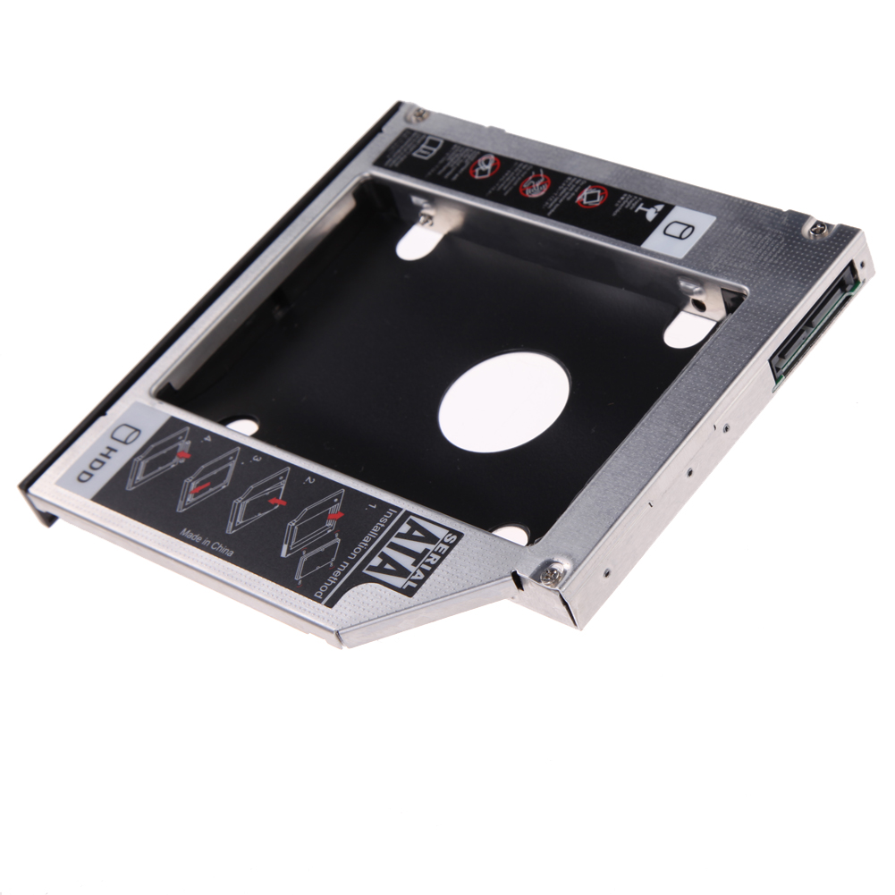 Universal 12.5mm SATA 2nd HDD SSD Hard Drive Caddy For 12.7mm CD/DVD-ROM Optical Bay With Original Packaging