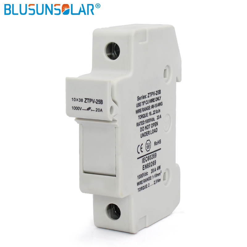 100 Pieces Solar PV Fuse Holders Fuse Link for PV Fuse Fusible 1000V DC Waterproof with
