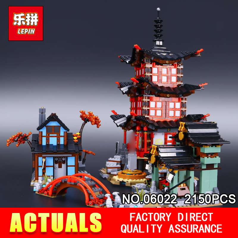 Lepin 06022 2150Pcs Building Series The 70751 Temple of Airjitzu Set Building Blocks Bricks Toys For Kids As Birthday Gifts compatible ninja 70751 lepin 06022 2150pcs blocks ninja figure temple of airjitzu toys for children building bricks 70603 gifts