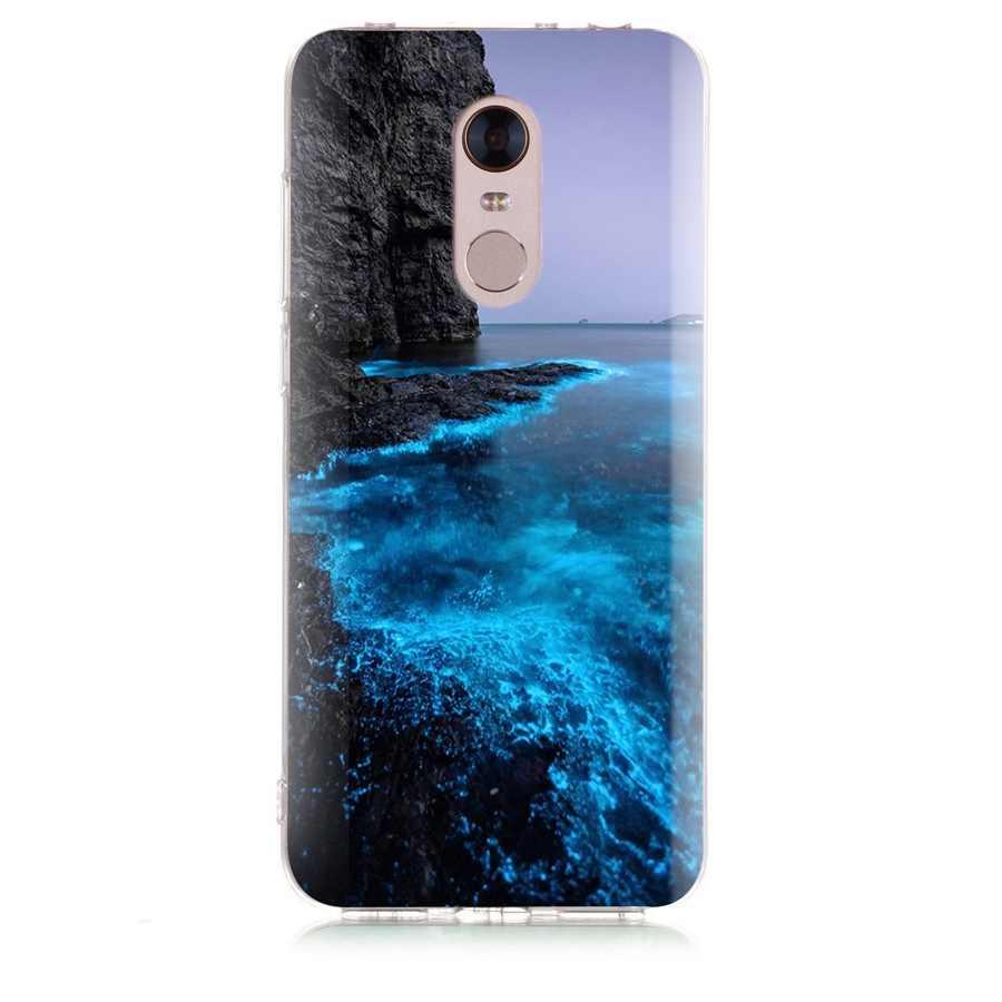 À motifs étui de téléphone pour xiaomi Rouge mi 4X Note 3 mi A1 Note 4 Pro 4A Note 5 6 6pro Pour Rouge mi 5A 6 6A Souple étui en polyuréthane thermoplastique Fundas D009