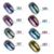 12 unids/set Shinning Camaleón Espejo UV Pulimento Del Gel Del Clavo Del Brillo Del Clavo Del Polvo Negro Gorgeous Chrome Pigmento Polvo Kit