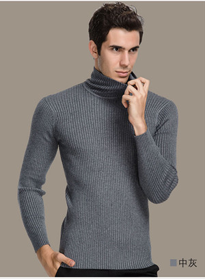 569cdcdd77 Winter Thick Warm 100% Cashmere Sweater Men Turtleneck Men Brand Mens  Sweaters Slim Fit Pullover Men Knitwear Double collar