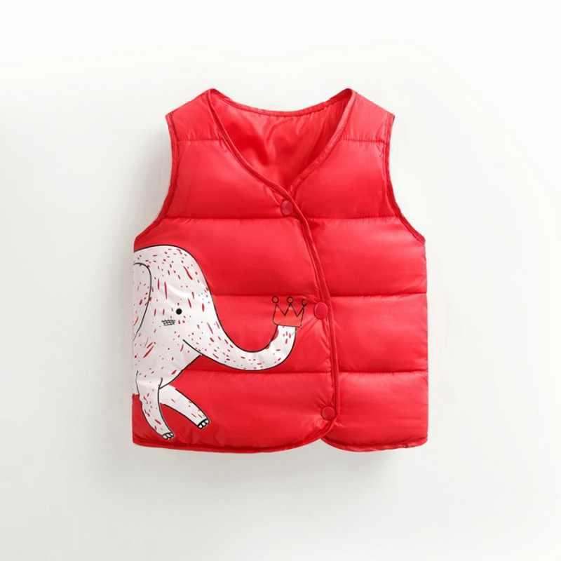 CROAL CHERIE Bông Bé Cô Gái Chàng Trai Mùa Đông Vest Cho Trẻ Em 2018 Kawaii Elephant In Áo Ghi Lê Trẻ Em Trai Quần Áo 80- 130 cm