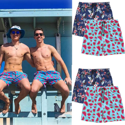 US Mens Boys Kids Swim Trunks Beach Shorts Surf Board Shorts Summer Sports Pants