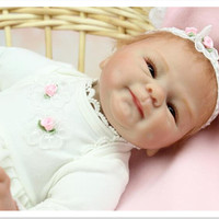 Free Shipping 2015 Realistic Silicone Reborn Dolls 18 Inch 45 Cm Lifelike Baby Reborn Toys For