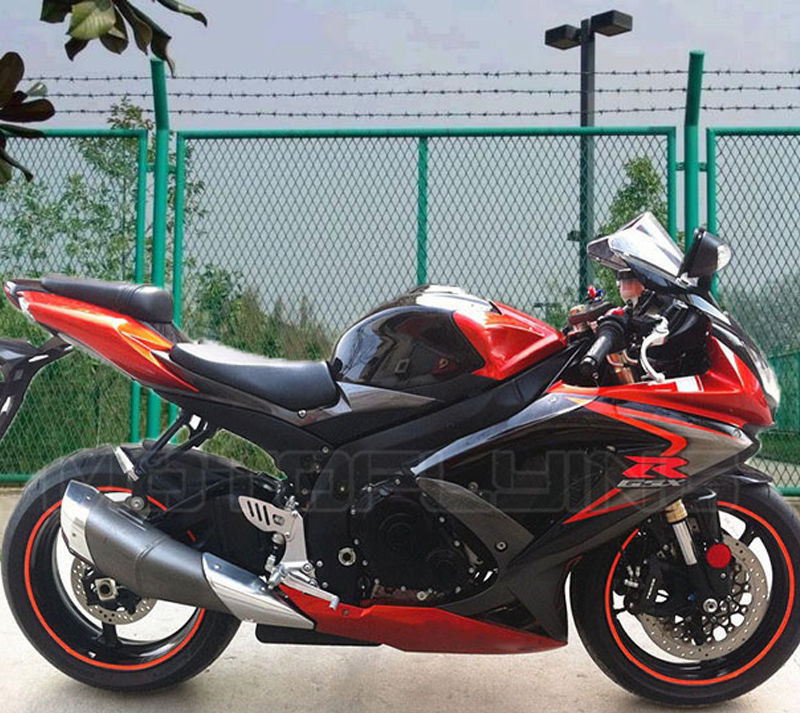 Fairing Matte Black Injection Plastics for 2008-2010 Suzuki GSXR 600 750 K8